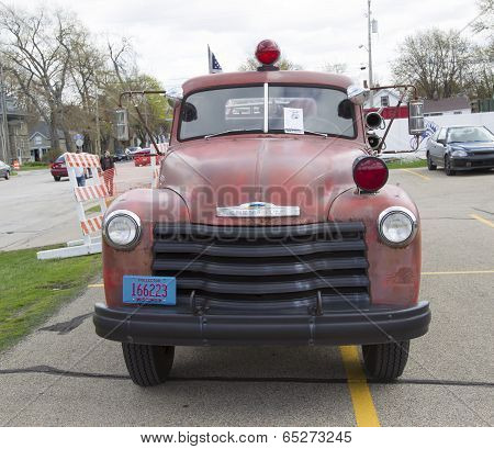 1951 Chevy Fire Truck Front View