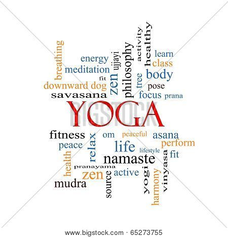 Yoga Word Cloud Concept