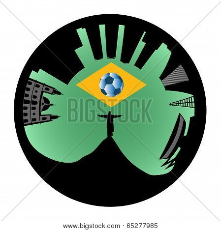 Vector Rio Skyline Looks Like Ring