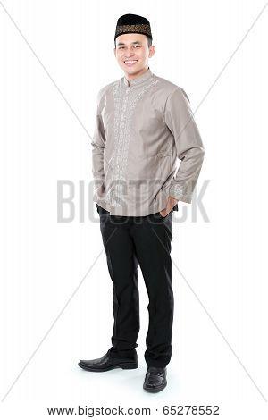 Smiling Asian Muslim Man