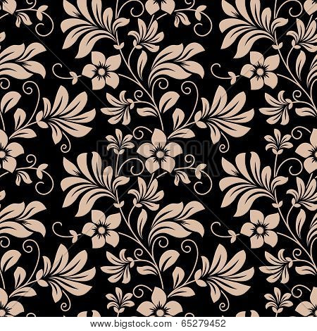 Vintage floral wallpaper seamless pattern