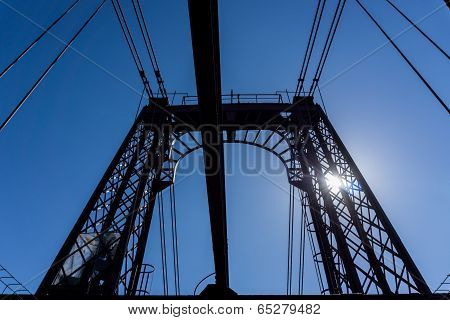Top of the Bizkaia suspension bridge