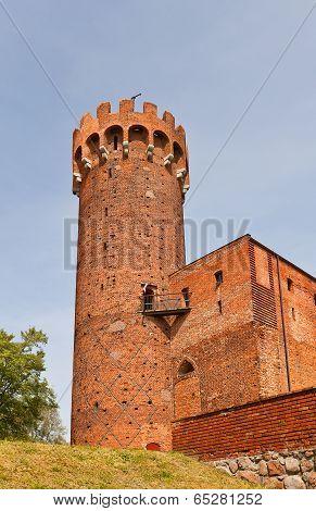 North-east Tower Of Schwetz Castle (1350). Swiecie, Poland