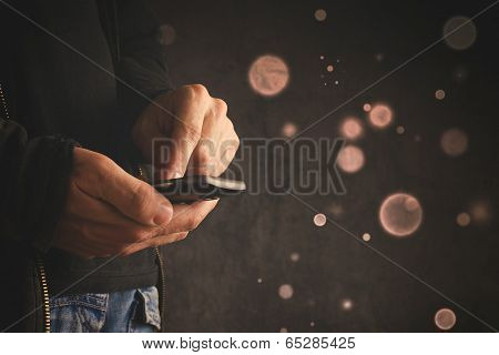 Hand With Mobile Smart Phone