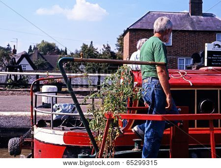 Narrowboats, Stoke Bruerne.