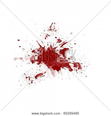 Picture of blood splatter on white background