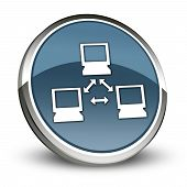 pic of vpn  - Icon Button Pictogram Image Graphic with Network symbol - JPG