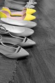 image of shoes colorful  - Concept of individuality - JPG