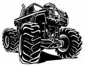 stock photo of muscle-car  - Cartoon Monster Truck - JPG
