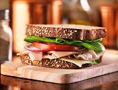 pic of deli  - deli meat sandwich with turkey - JPG