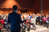 stock photo of seminar  - Speaker at Business Conference and Presentation - JPG