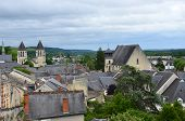 foto of anjou  - Roofs of Chinon town Vienne valley France - JPG