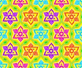 image of rangoli  - Seamless floral indian Rangoli pattern - JPG