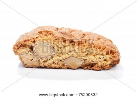 Cantuccini With Almonds, Isolated On White
