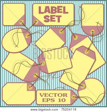 Set of Paper Price Tags, Labels - Vector EPS 10.
