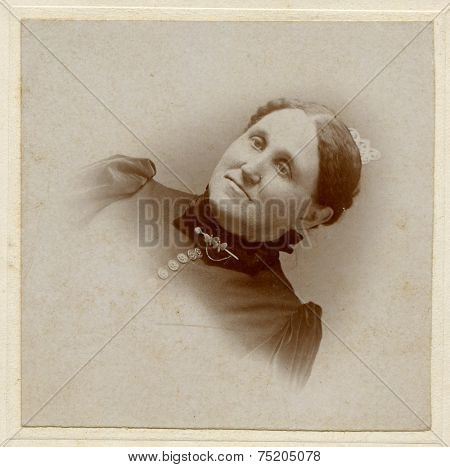 CANADA - CIRCA 1900s: Vintage photo shows studio portrait of a woman.