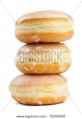 Stack Of Three German Pancake Pastries