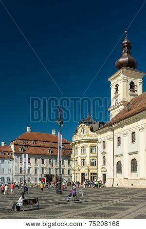 The Upper Town Part Of Sibiu City