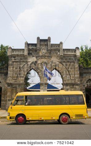 Entrance To The Handicrafts Artesania Market Masaya Nicaragua