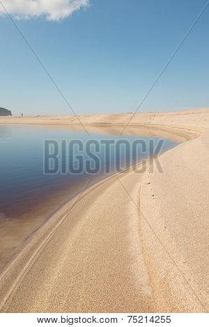 Sandwood Bay Lagoon
