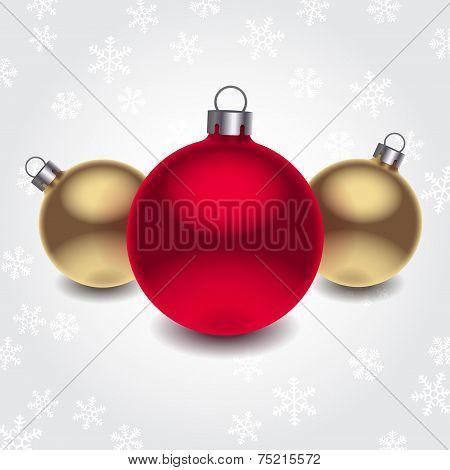 Vector 3d christmas balls