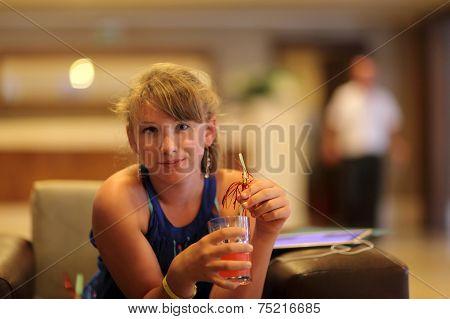 Girl In Hotel Lobby