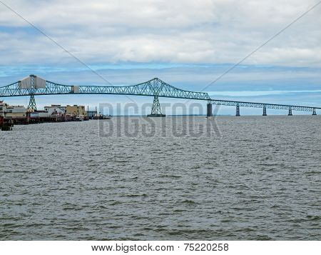 Astoria Bridge Viewed From Astoria, Oregon Usa