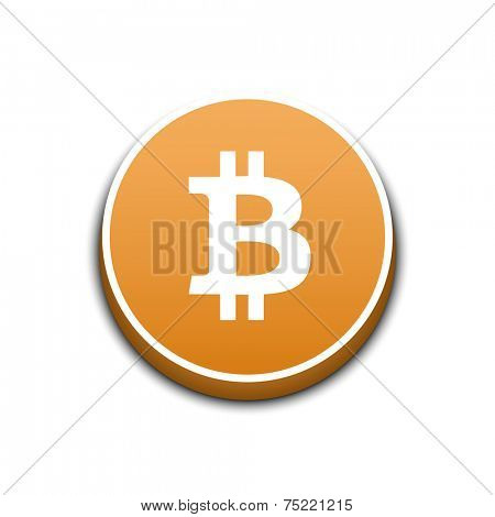 Bitcoin crypto currency. Vector illustration