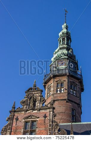 Tower Of The Main Building Of The University Of Groningen