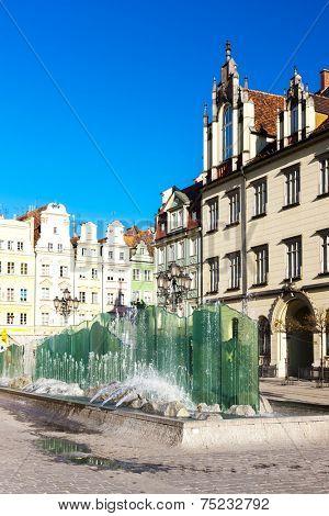 Main Market Square, Wroclaw, Silesia, Poland