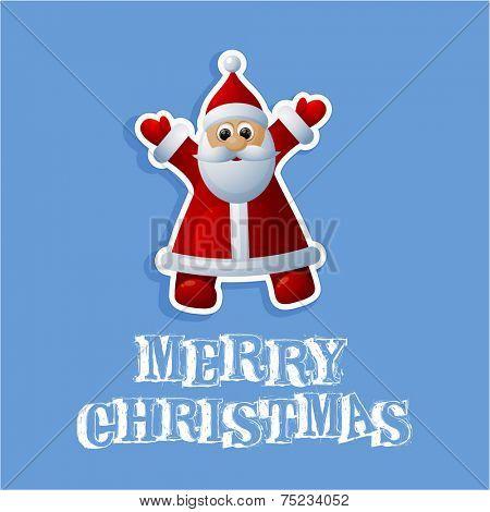 Christmas illustration with funny Santa.