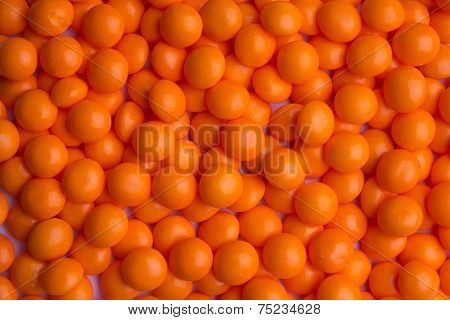 Background of coated orange candy