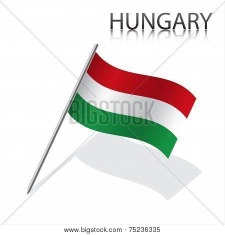 Realistic Hungarian flag