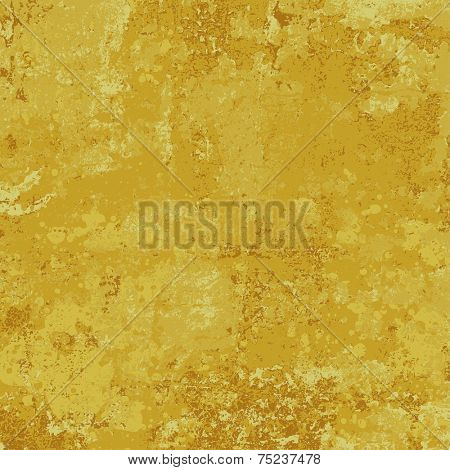 Old gold paint texture, abstract vector background