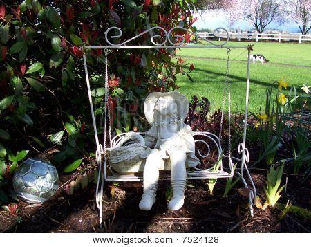 Stock Image Of Garden Decorative Swing