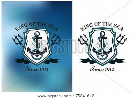 King Of The Sea nautical themed badge