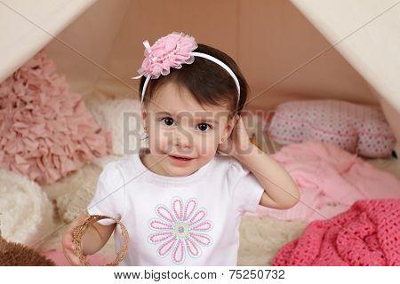 Child Pretend Play: Dress Up Costume Headband And Teepee Tent