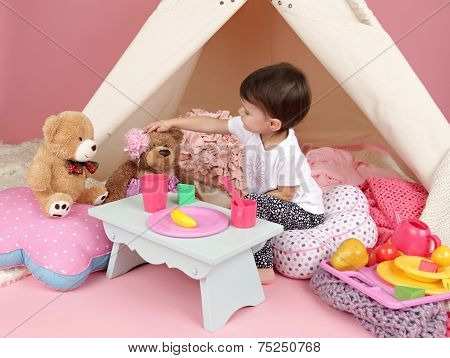 Child Play: Pretend  Food, Toys And Teepee Tent