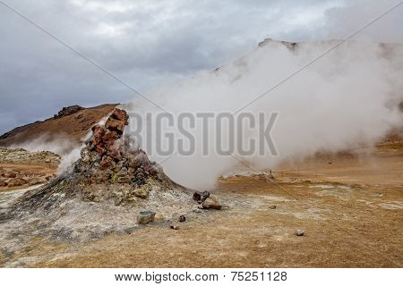Volcano Fumarole In Iceland
