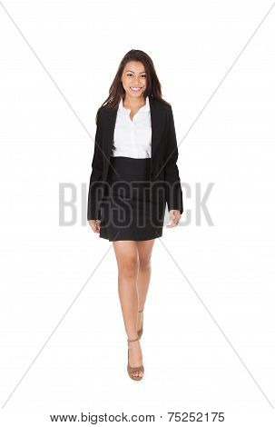 Portrait Of Welldressed Businesspeople Walking