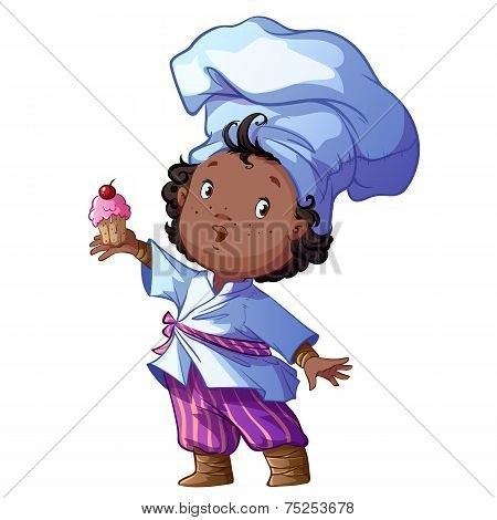 Little Chef With Cake