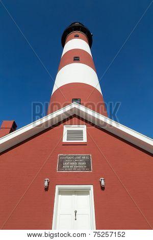 Looking up at Assateague Lighthouse
