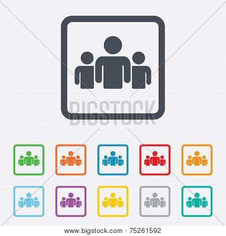 Group of people sign icon. Share symbol.