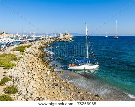 Harbor Of Rhodes, Greece