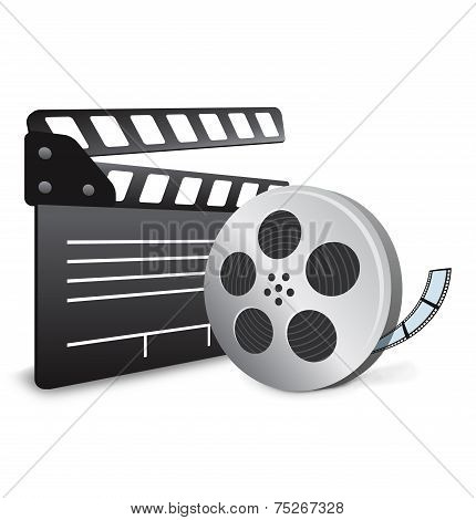 Film Slate with Movie Film