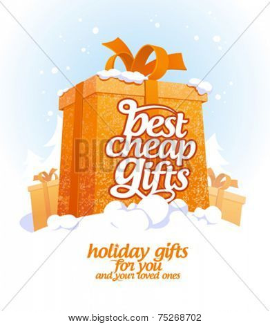Best cheap gifts design template.