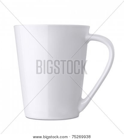 White ceramics mug isolated