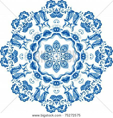 Vector Watercolor Lace. Doily round lace pattern