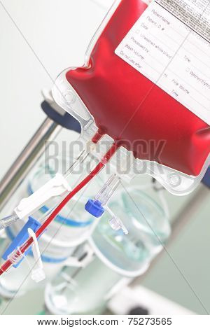 Bag With Blood In The Hospital