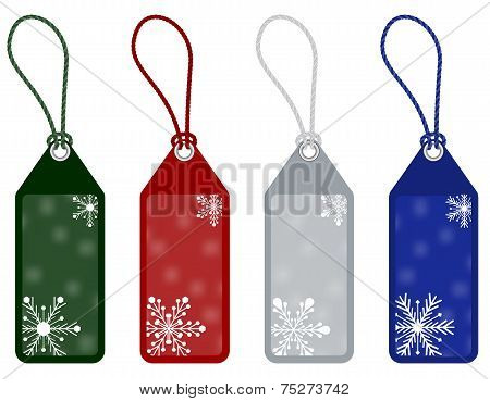 winter or christmas price tags